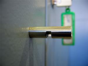 Tirador de la puerta de un armario