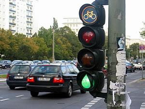 Sem�foro redise�ado en verde
