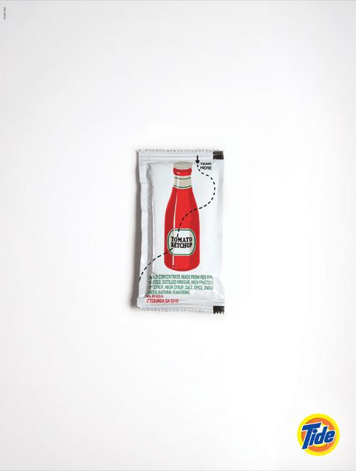 Bolsita de ketchup imposible - Detergente Tide