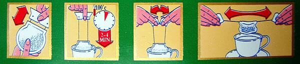 Instrucciones en bolsita de t� de Tetley
