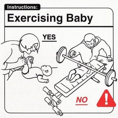 Instrucciones: �Excercising Baby�