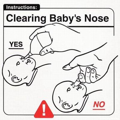 "Instrucciones: ""Clearing Baby Nose"""