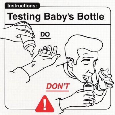 Instrucciones: �Testing Baby Bottle�