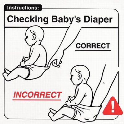 Instrucciones: �Checking Baby Diaper�