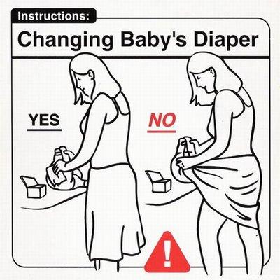 "Instrucciones: ""Changing Baby Diaper"""