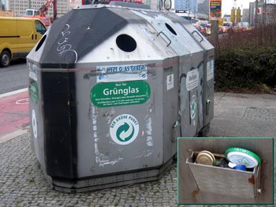 Contenedor para reciclar vidrio