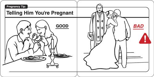 Instrucciones: �Telling Him You�re Pregnant�