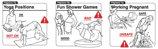 Instrucciones: �Yoga Positions� & �Fun Shower Games� & �Working Pregnant�