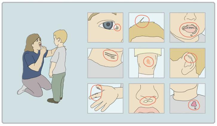 Instrucciones para usar la saliva en los ni�os