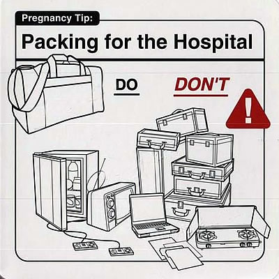 "Instrucciones: ""Packing for the Hospital\"""