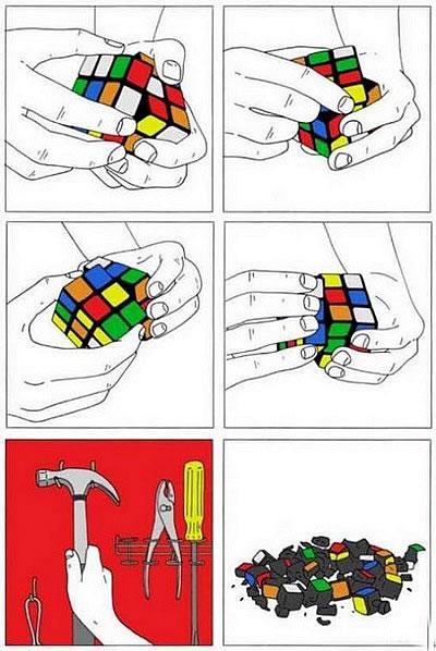 Instrucciones para acabar con el Cubo de Rubik