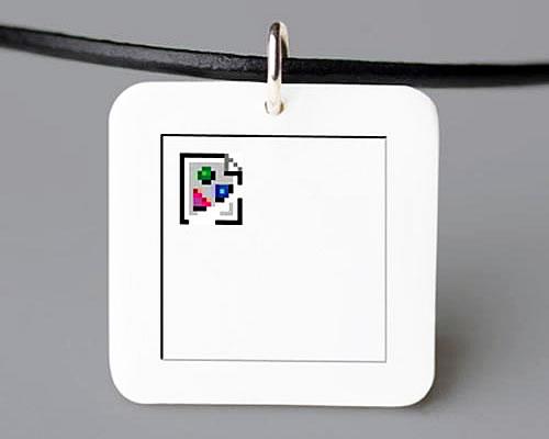 """Collar basado en el icono de """"imagen rota"""" de la web"""