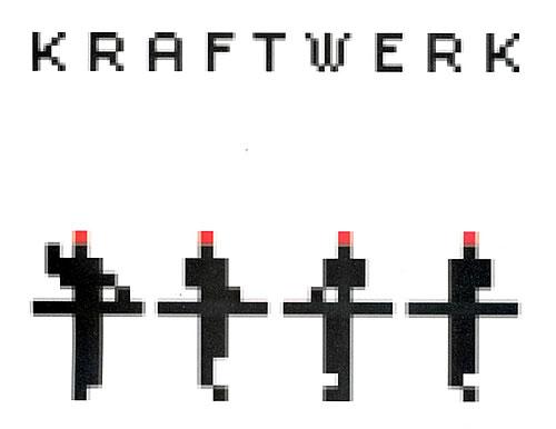 Pixelado y tipograf�a dentada en un p�ster de Kraftwerk