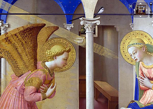 La Anunciaci� de Fra Angelico en Google Maps