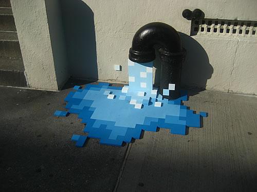 Arte urbano con p�xeles