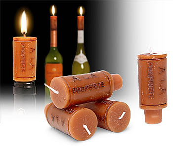 "Velas para botellas de vino ""Cork Candles"""