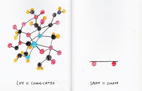 La vida es complicada, el deporte es simple de Nicolas Burrows