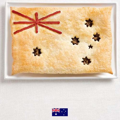 Bandera de Australia con alimentos - Sydney Food Festival