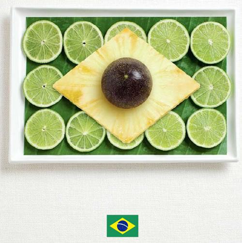 Bandera de Brasil con alimentos - Sydney Food Festival