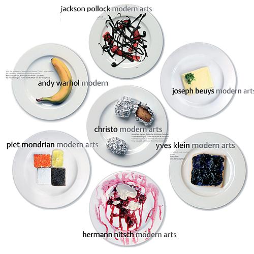 Arte moderno con alimentos
