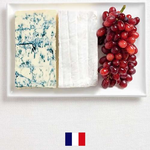 Bandera de Francia con alimentos - Sydney Food Festival