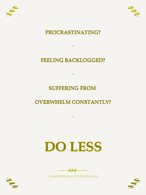 Makememinimal Fundamentals - Do Less / Haz Menos