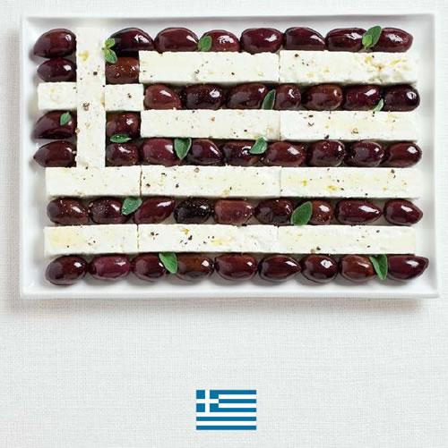 Bandera de Grecia con alimentos - Sydney Food Festival