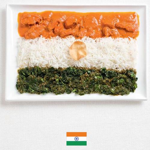 Bandera de India con alimentos - Sydney Food Festival