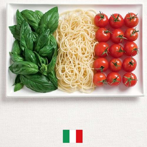 Bandera de Italia con alimentos - Sydney Food Festival