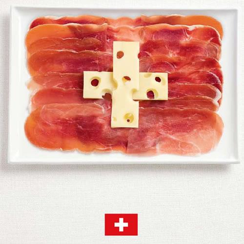 Bandera de Suiza con alimentos - Sydney Food Festival