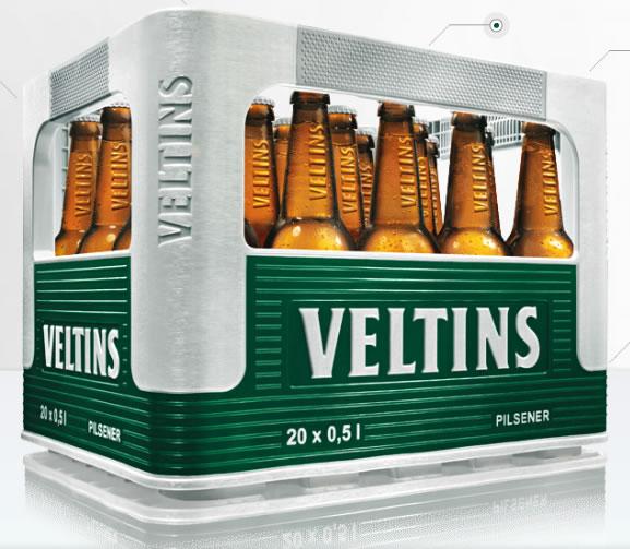 Caja de cervezas Veltins diseñada por Porsche