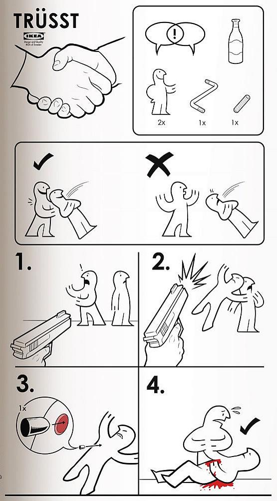 Instrucciones para armar confianza - Estilo Ikea